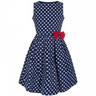 6b493351c Mini Grace' Star Print Children's Swing Dress by Lindy Bop   The ...