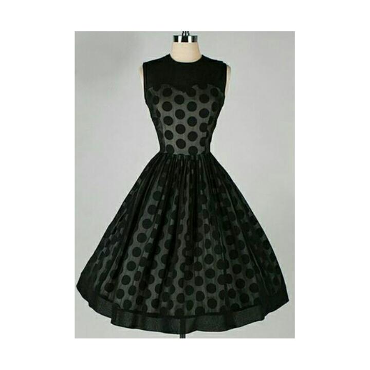 4cf0dfced71de Sophia' 50's style black polka dot swing dress   The Retro Collection